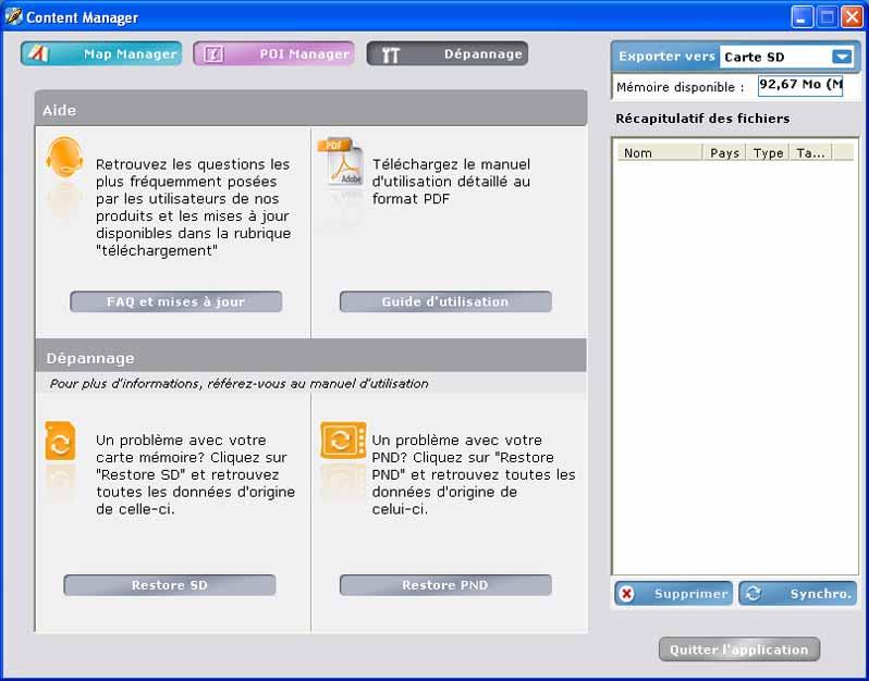 content manager viamichelin x960 gratuit
